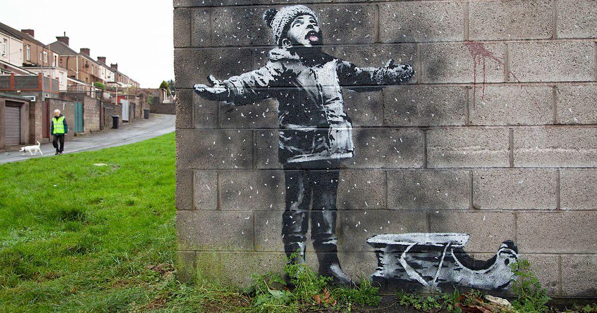 Різдвяне графіті Бенксі сколихнуло мережу (ВІДЕО)
