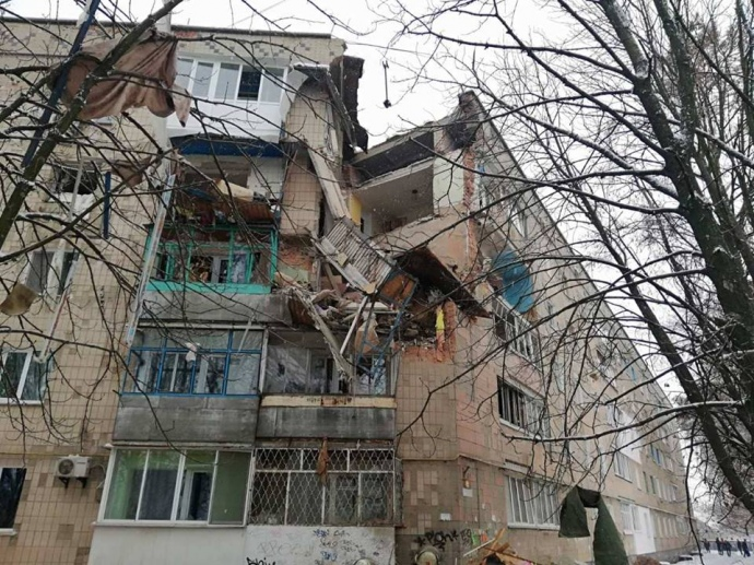 Вибух газу зруйнував 3 поверхи в житловому будинку на Київщині (ФОТО, ВІДЕО)