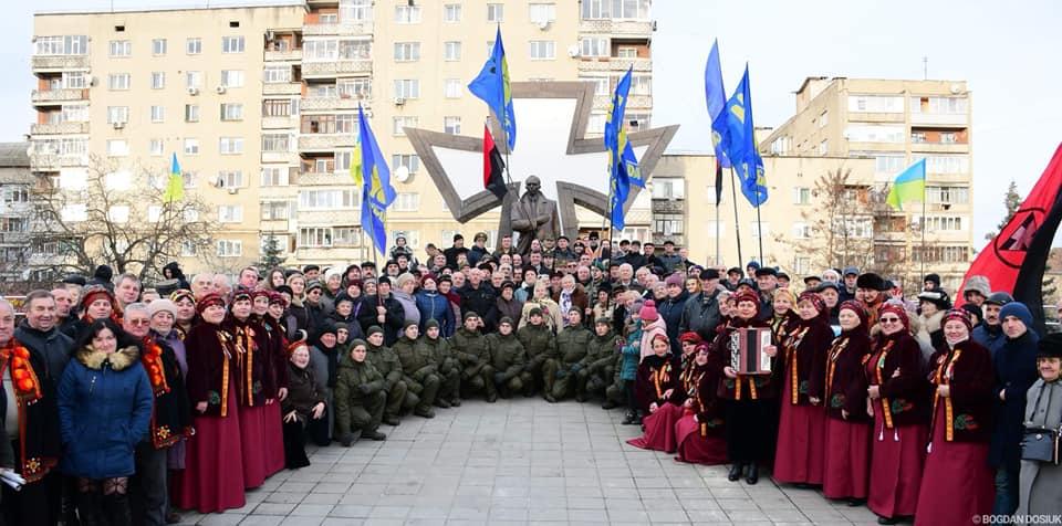 У Франківську відзначили 110-у річницю від Дня народження Степана Бандери(ФОТО, ВІДЕО)