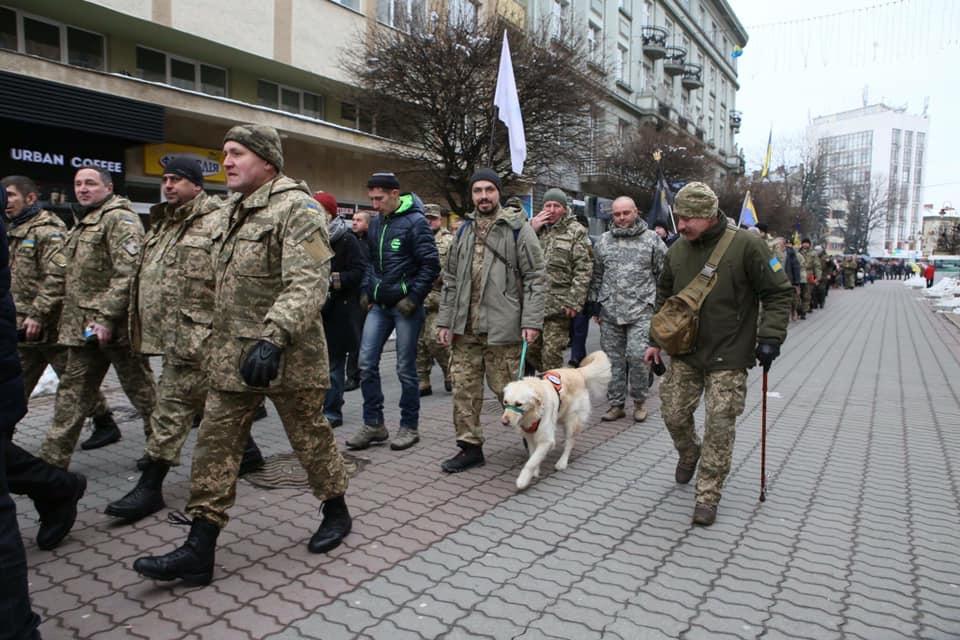 В Івано-Франківську пам'ятною ходою вшанують захисників Донецького аеропорту