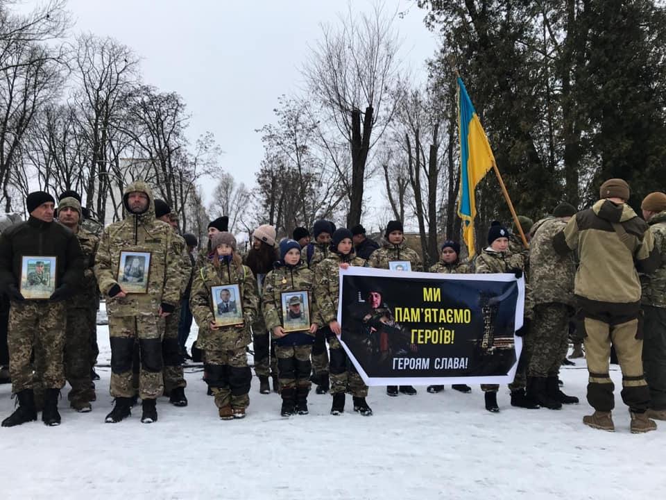 В Івано-Франківську вшанували захисників Донецького аеропорту (ФОТО)