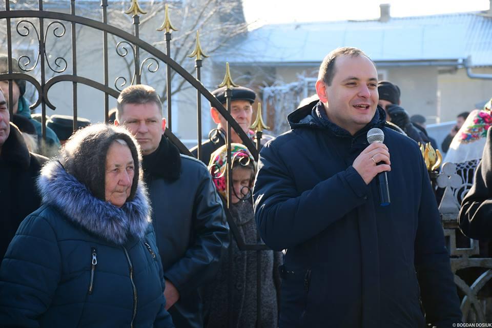Марцінків на Водохреща відвідав село Вовчинець (ФОТО)