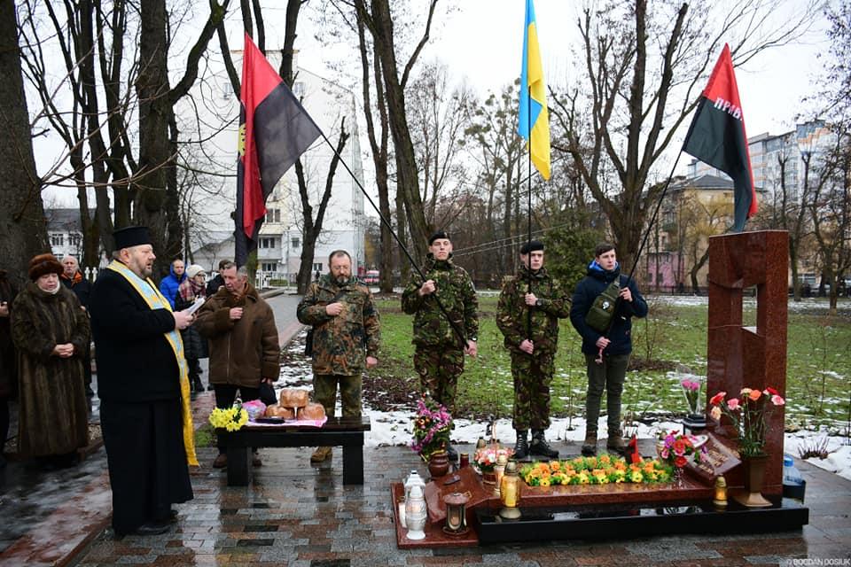 У Франківську вшанували пам'ять загиблого бійця АТО (ФОТО)