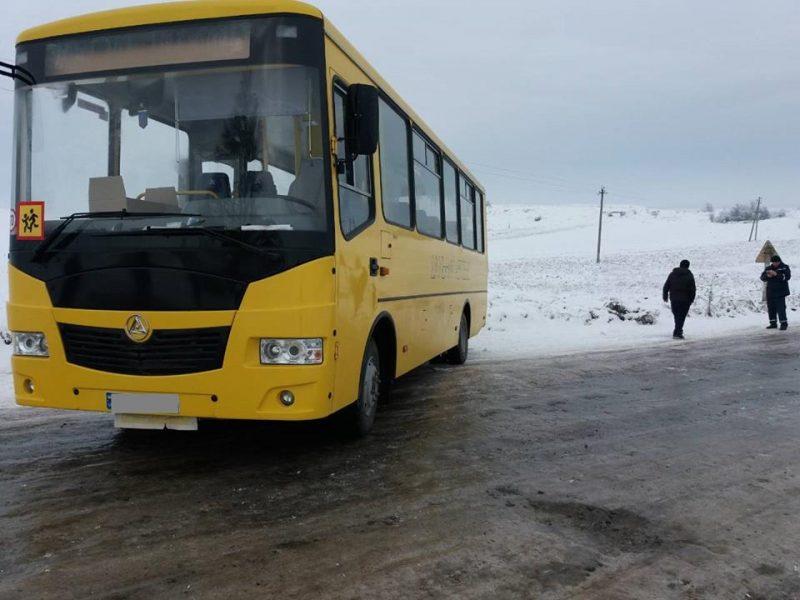 На Прикарпатті автобус зі школярами злетів у кювет