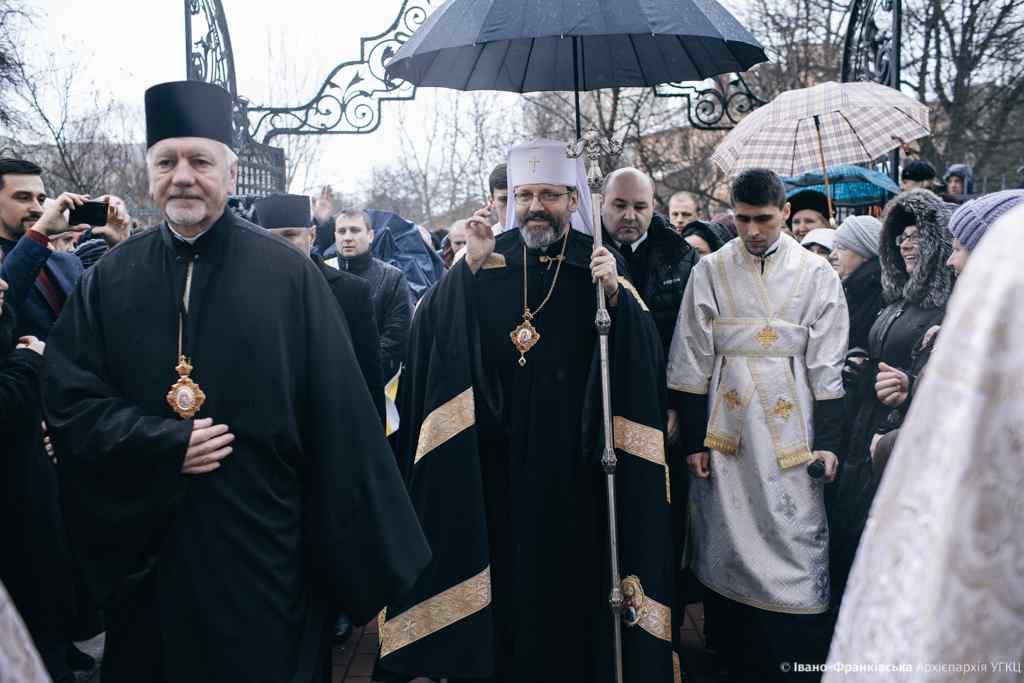 Глава УГКЦ Блаженніший Святослав прибув до Франківська (ФОТО)