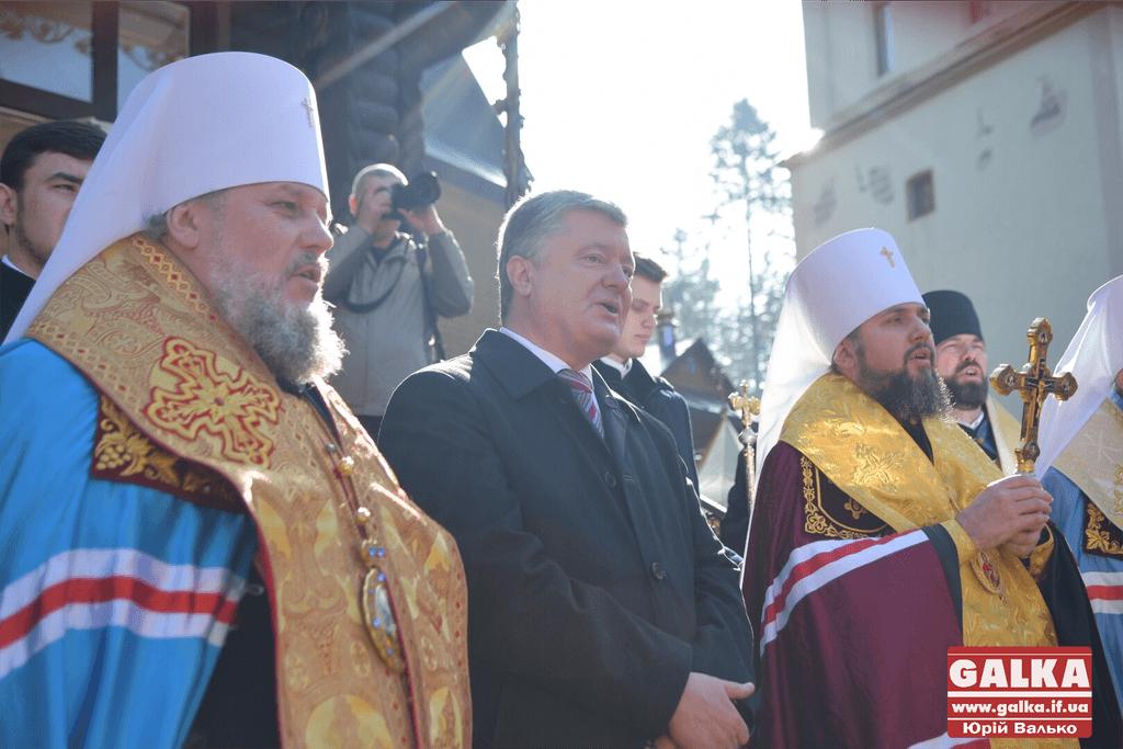 Петро Порошенко привіз Томос на Прикарпаття (ФОТО, ВІДЕО)