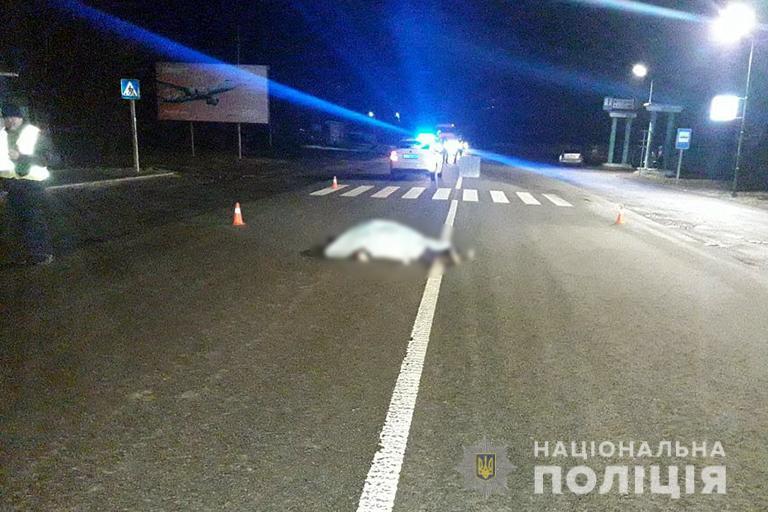 Пішохід, який вчора загинув у Галицькому районі, перебігав дорогу поза межами пішохідного переходу (фотофакт)