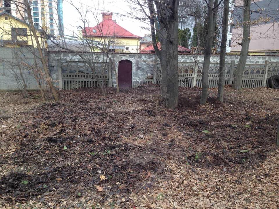 Франківський господар прибрав сміття, яке зі свого подвір'я викинув у парк Шевченка (фоторепортаж)