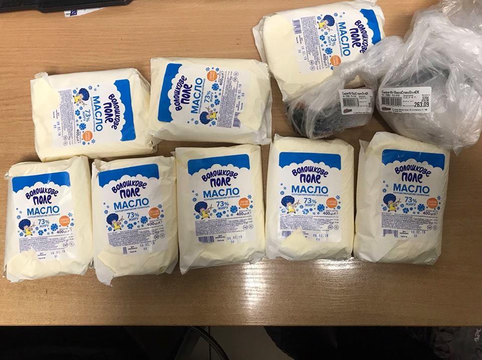 В одному з франківських супермаркетів спіймали крадійку (фотофакт)