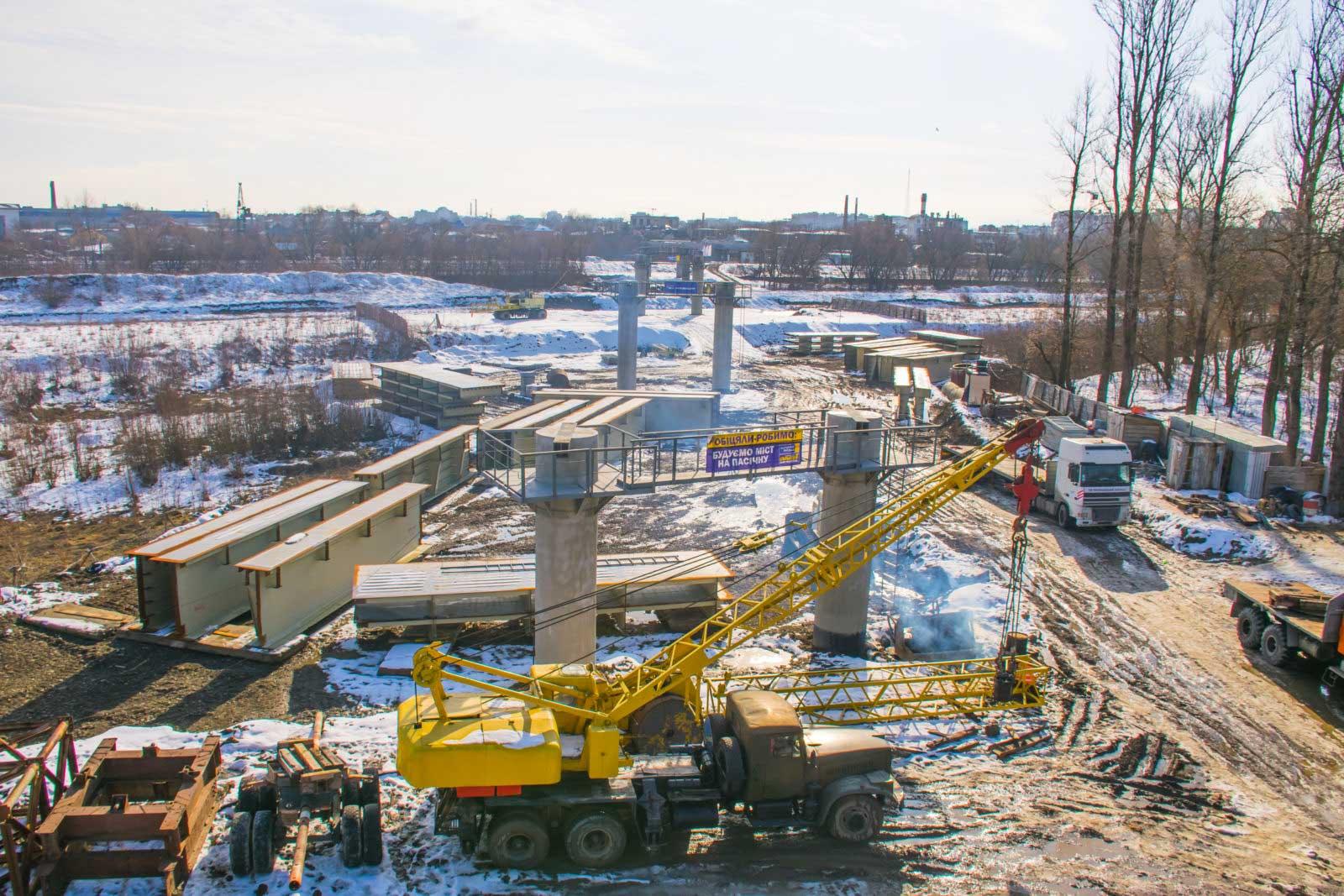 У Франківську будівництво мосту на Пасічну вийшло на новий етап (ФОТО)
