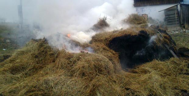 На Надвірнянщині через необережність згоріло дві тонни сіна