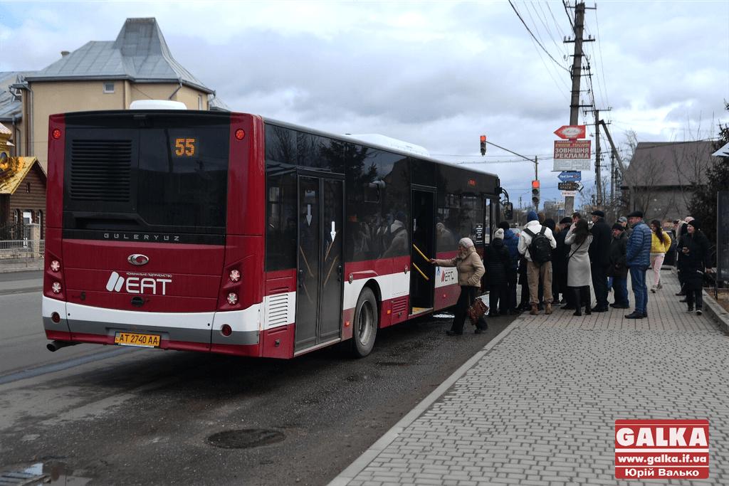 Автобуси№41К та №55 курсуватимуть сьогодні за графіком вихідного дня