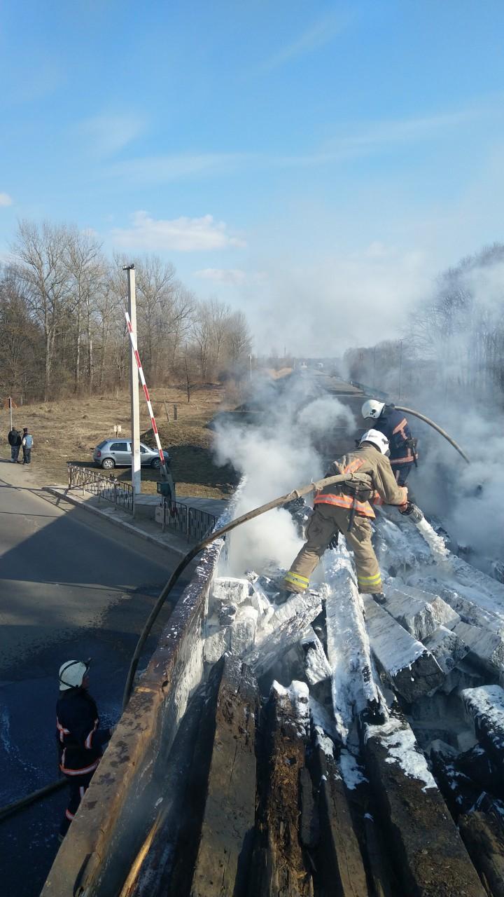 На Прикарпатті під час руху загорівся вагон вантажного потяга (ФОТО)