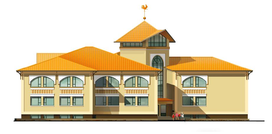 Франківцям показали ескіз фасаду нового дитсадка на Каскаді (ФОТО)