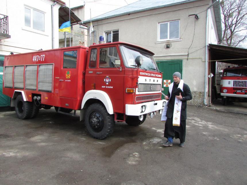 Рогатинським рятувальникам колеги з Польщі подарували пожежну машину (ФОТО)