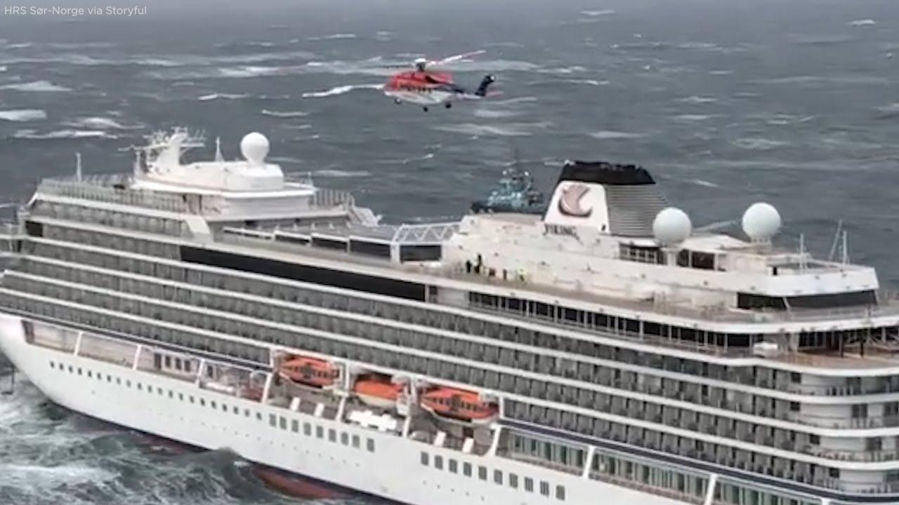У штормовому морі поблизу Норвегії зупинилися двигуни у круїзного лайнера з 1300 пасажирів (ФОТО, ВІДЕО)