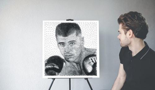 Фанат Гвоздика створив портрет боксера із цвяхів (ФОТО)