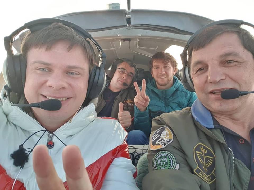 Телеведучий Комаров завершив у Коломиї триденний рекордний політ (ВІДЕО)