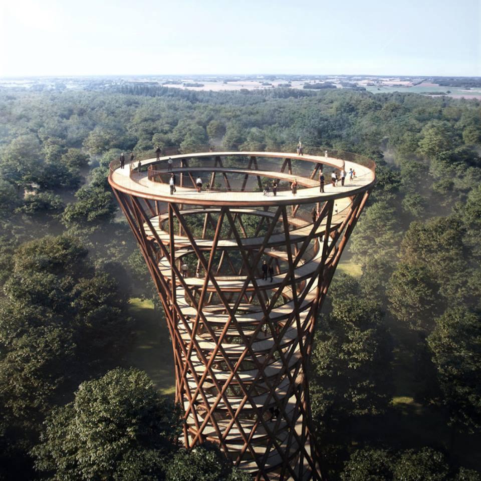 Насолода для очей: у Данії відкрили 140-метрову спіралевидну оглядову вежу (ФОТО)