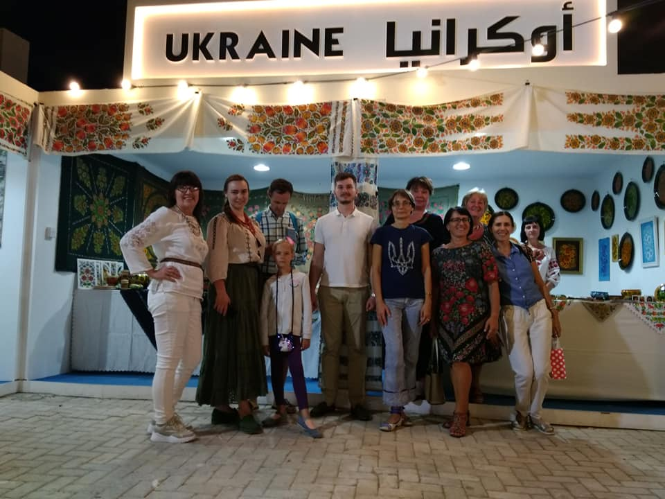 Косівську мальовану кераміку представили на Міжнародному фестивалі в ОАЕ (фоторепортаж)