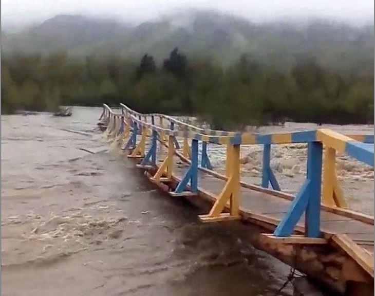 Лімниця і Бистриця-Солотвинська виходять з берегів: дерев'яні мости можуть не встояти (ВІДЕО)