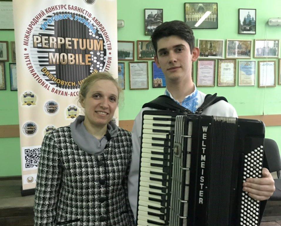 Студент франківського вишу став лауреатом міжнародного конкурсу баяністів-акордеоністів