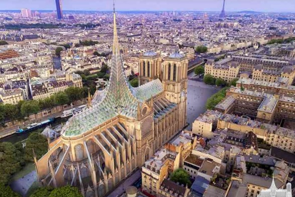 Собор Паризької Богоматері пропонують зробити зі скляним дахом (ПРОЕКТ)