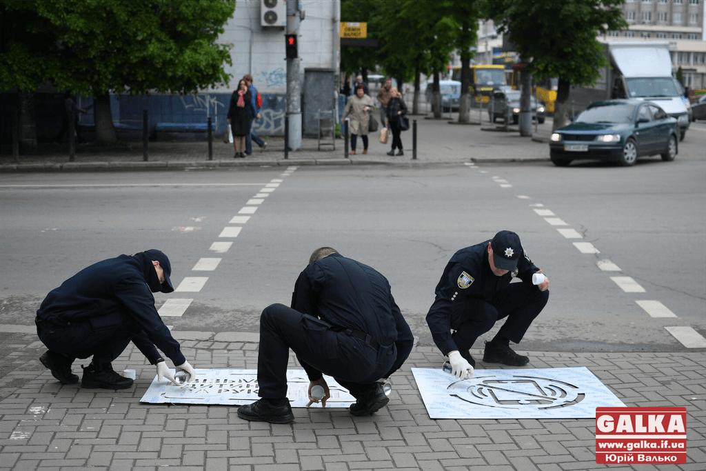 Поліція працює з потенційними жертвами, а не з винуватцями майбутніх ДТП, – чиновник виконкому про трафарети на тротуарах