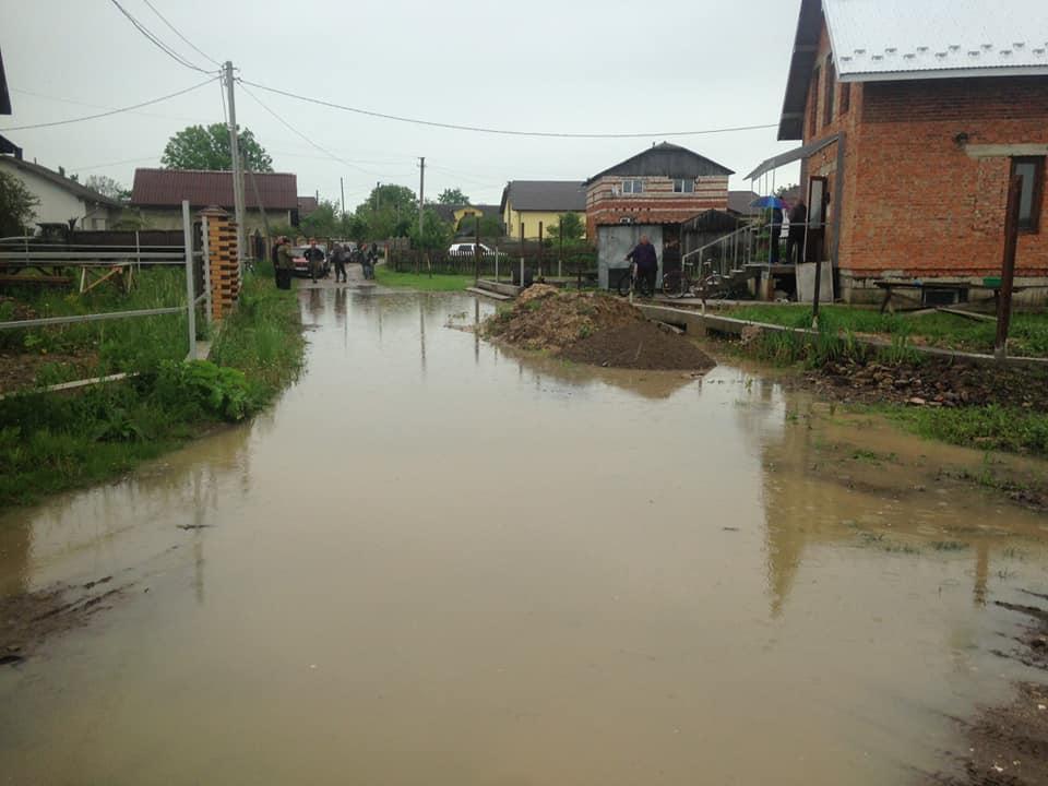 В передмісті Франківська Бистриця перейшла дамбу і почала підтоплювати будинки – влада просить допомоги (фоторепортаж)