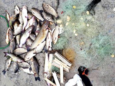 Франківець наловив риби на дві з половиною тисячі гривень штрафу (ФОТО)