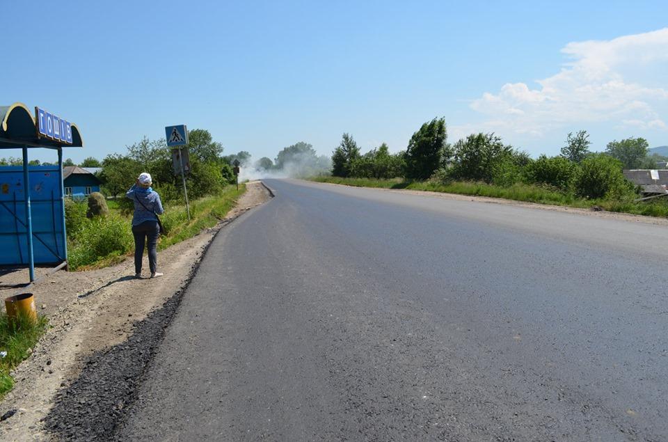 На Долинщині відремонтували частину дороги державного значення (ФОТО)