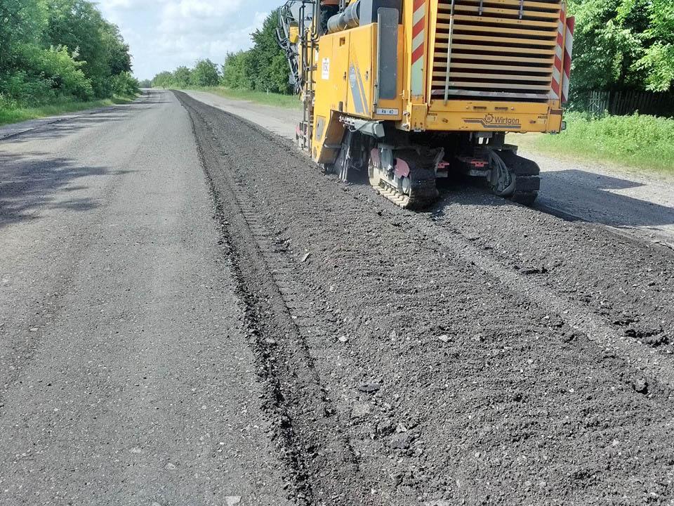 На дорозі державного значення в області триває ремонт (ФОТО)