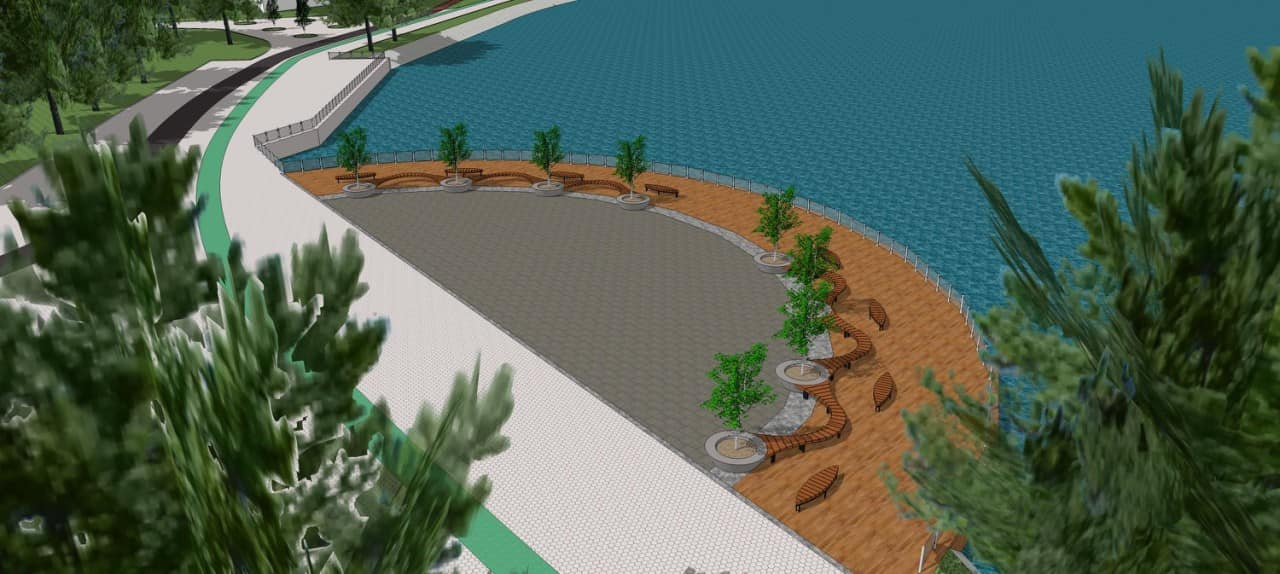 Комунальники показали, як виглядатиме основний пірс на міському озері (ФОТО)