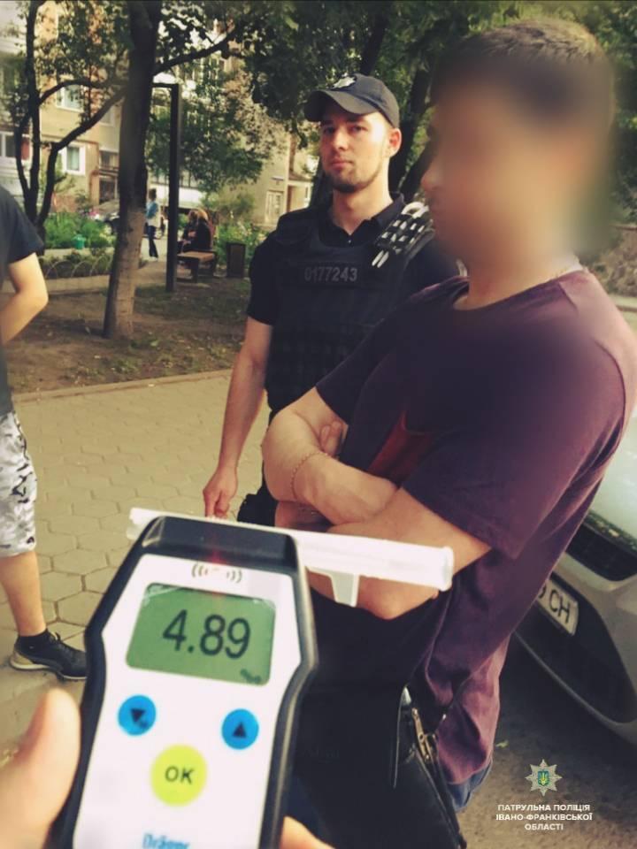 Повторив рекорд: у Франківську спіймали дуже п'яного водія (ФОТО)