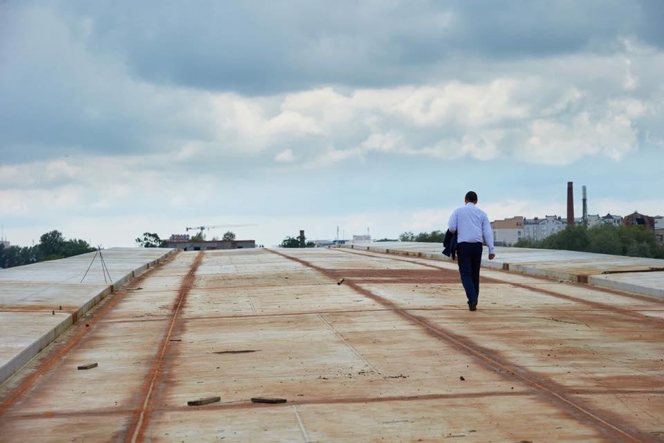 Марцінків попросив у Зеленського дофінансувати будівництво нового моста на Пасічну
