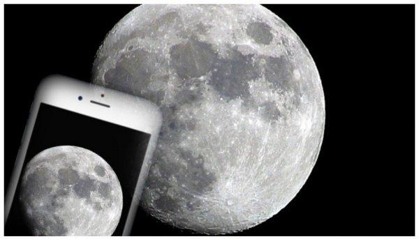 iPhone 6 зняв Місяць краще професійного фотоапарата (ФОТО)