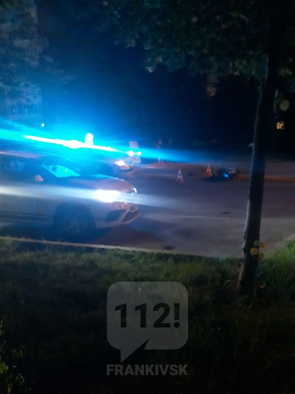 Вночі у Франківську водій збив неповнолітнього на скутері: обоє порушували (ФОТОФАКТ)