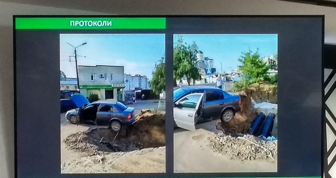 У Франківську автомобіль заїхав у розкопку (ФОТОФАКТ)