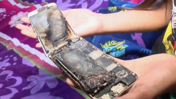 iPhone 6 ледь не спалив 11-річну дівчинку живцем (ФОТО)