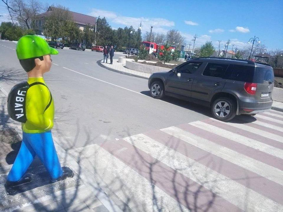 """На пішохідних переходах у Франківську з'являться """"обманки"""" для водіїв (ФОТО)"""