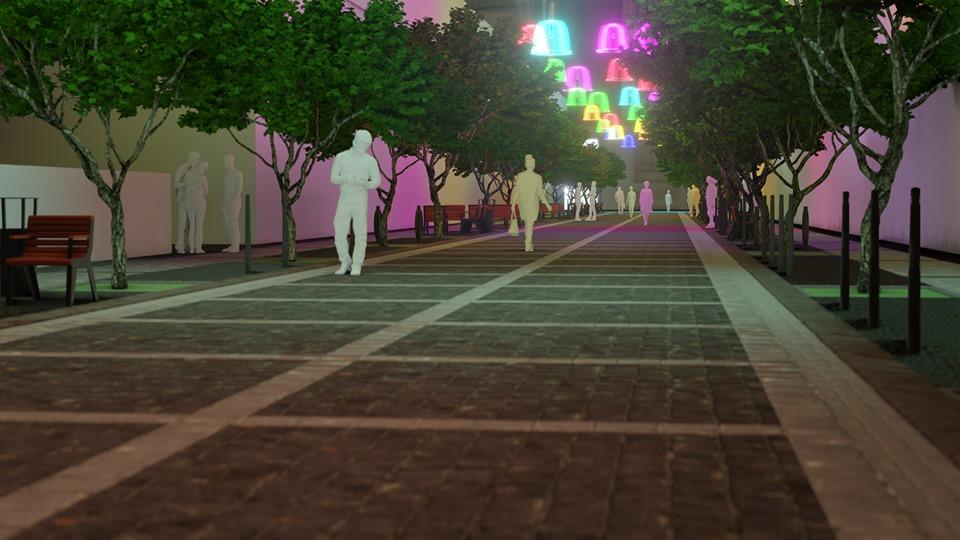 Війна з автівками і світлові шоу: вулицю Курбаса хочуть кардинально змінити (ПРОЄКТ)