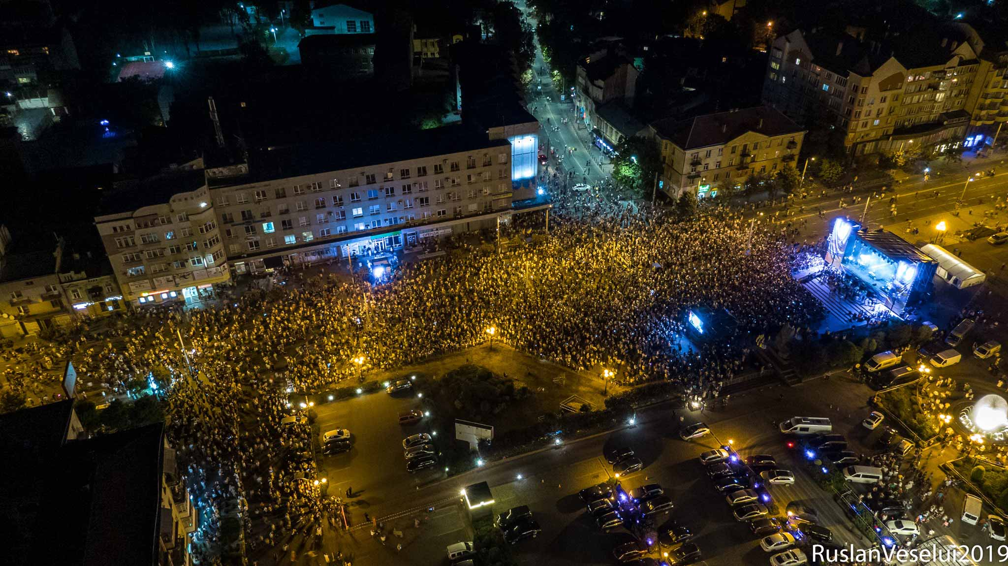 Франківець показав, яким було місто 24 серпня з неба (ФОТО)