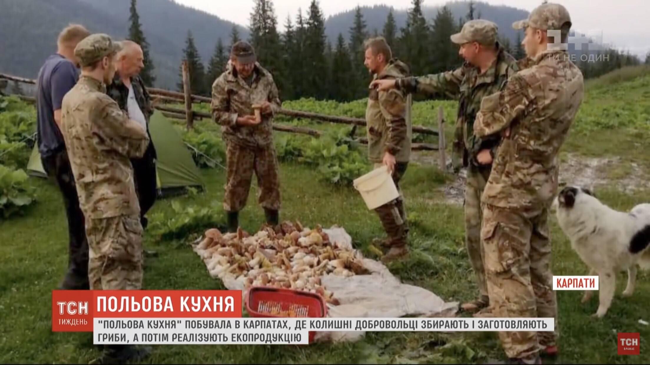 Грибна рота: як ветерани АТО проходять реабілітацію у Карпатах (ФОТО, ВІДЕО)