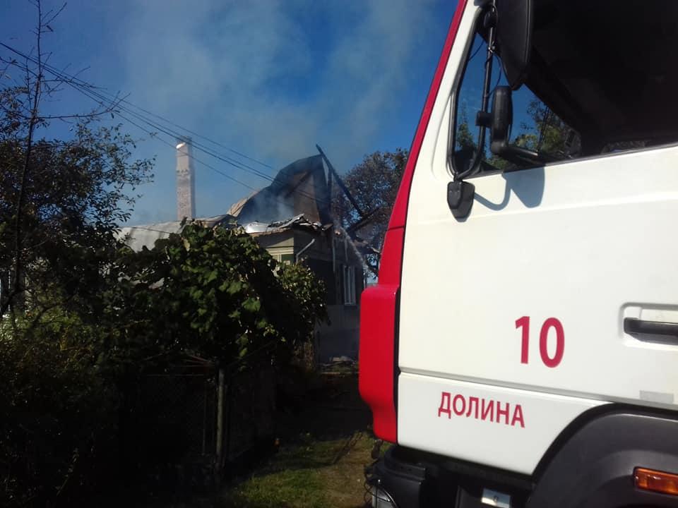 У Долині горить будинок (ФОТО, ОНОВЛЕНО)