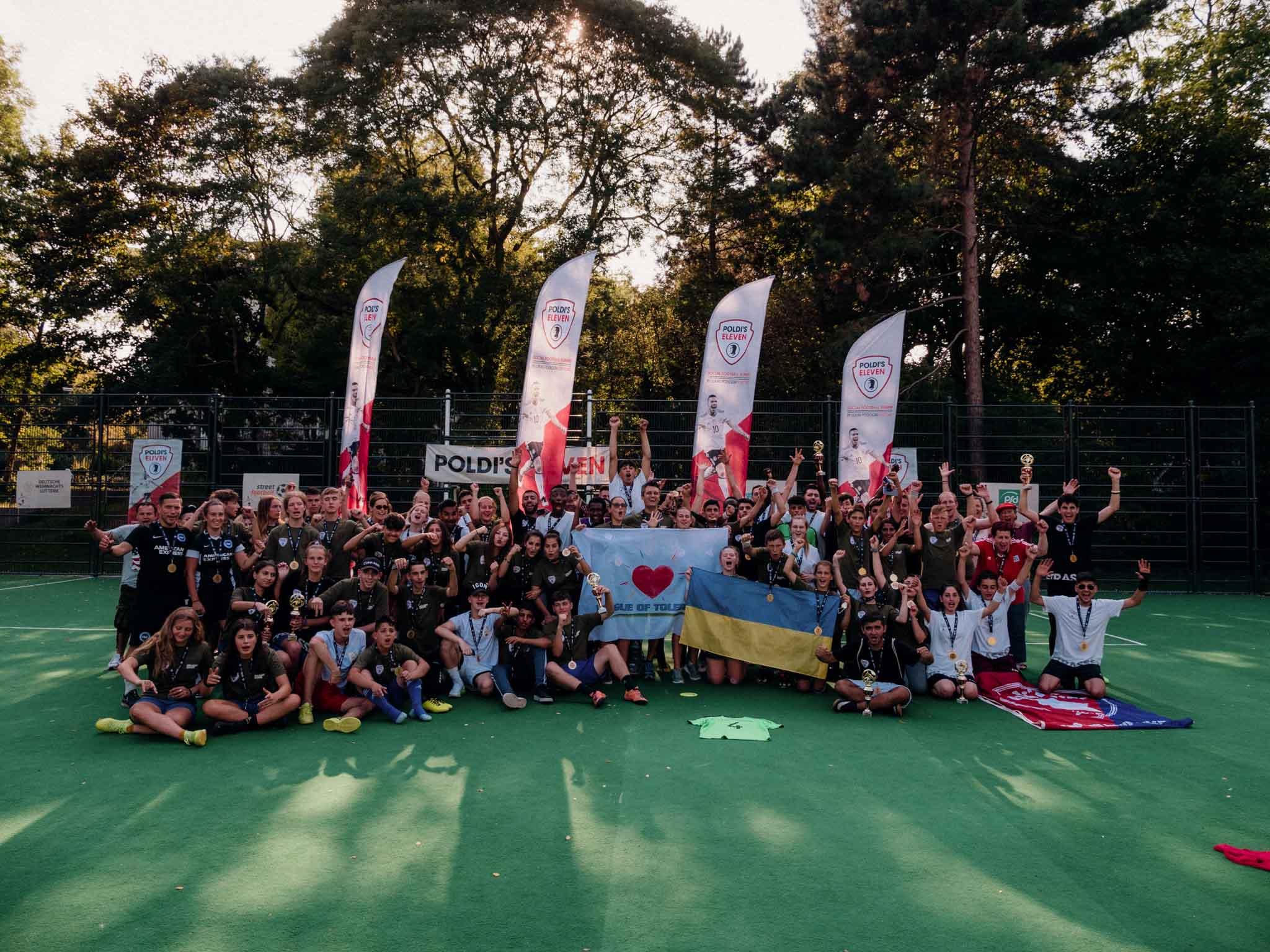 Франківські підлітки грали футбол у рідному місті Лукаса Подольскі (ФОТО)