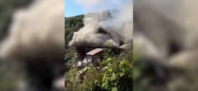 На Косівщині у борця з вирубкою лісів загорівся будинок (ВІДЕО)