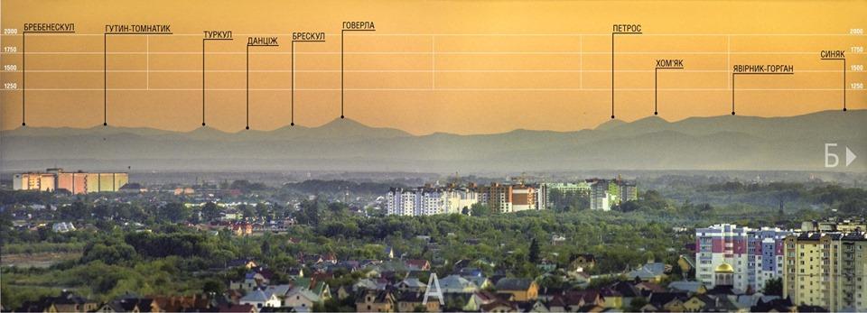 Франківець показав, як виглядають карпатські вершини з Вовчинецьких пагорбів (ФОТО)
