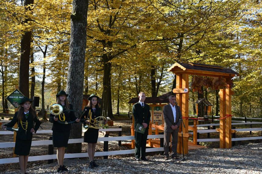 Лісівники Прикарпаття облаштували нове відпочинкове місце біля 120-річного дуба (ФОТО)