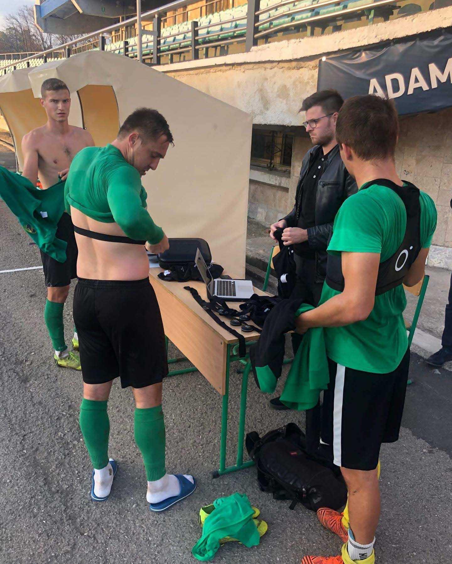 Гравці «Прикарпаття» гратимуть у футбол з GPS-трекерами (ФОТО)