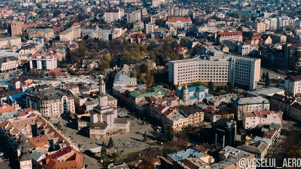 Осінній Франківськ показали з висоти пташиного польоту (ФОТО)